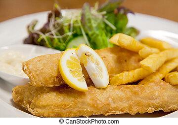 Pescado y chip