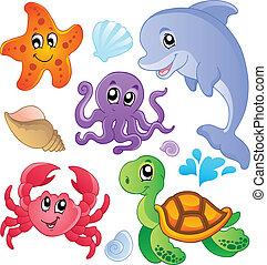 Pescados marinos y animales recolectan 3