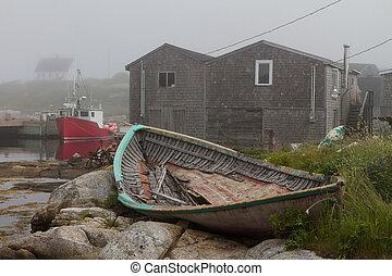 Pescando barcos en la cala de peggy