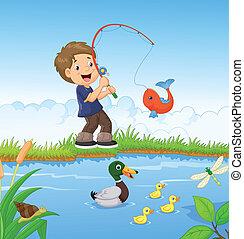 Pesquería de dibujos animados