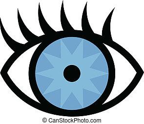 pestañas, ojo