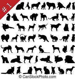 Pets siluetas # 1