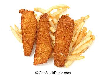 pez frito, tablones