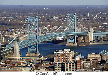 philadelphia's, puente de ben franklin
