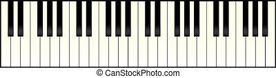 piano, largo, teclado