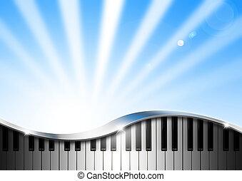 piano, plano de fondo, música