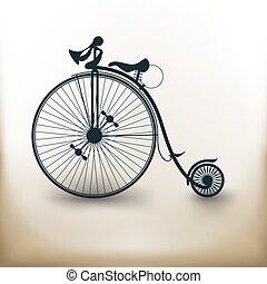 Pictogram vieja bicicleta