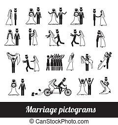 pictograms, matrimonio