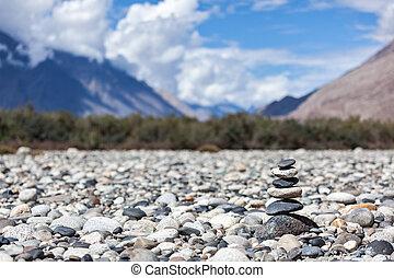 Piedras balanceadas Zen