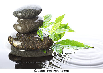 Piedras clavadas en el agua