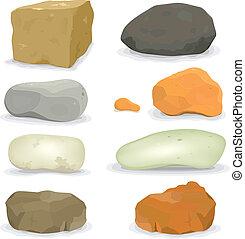 piedras, rocas, conjunto