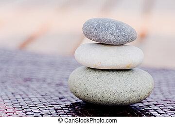 Piedras Zen apiladas