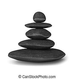 Piedras Zen balance concepto