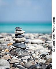 Piedras Zen balanceadas