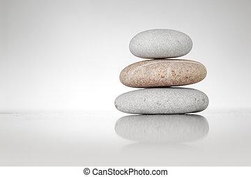 Piedras Zen en blanco