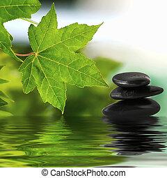 Piedras Zen en el agua