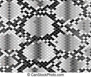 piel, patrón, serpiente