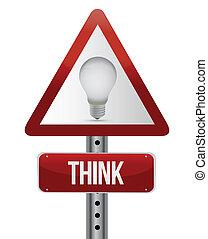 Piensa en el concepto de señal de la calle