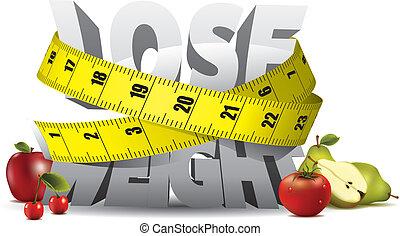 Pierde peso con cinta adhesiva y frutas