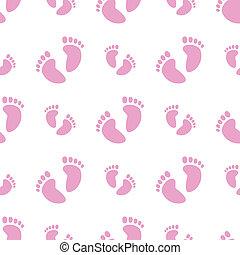 Pies de bebé sin piernas (niña)