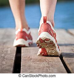 Pies de jogging