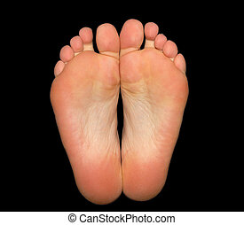 pies, negro, aislado, plano de fondo