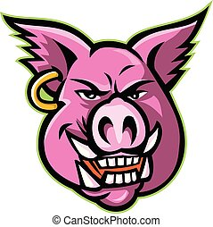 pig-head-earring-mascot