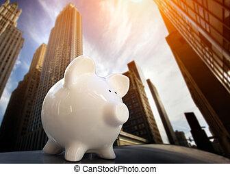 piggybank, distrito financiero