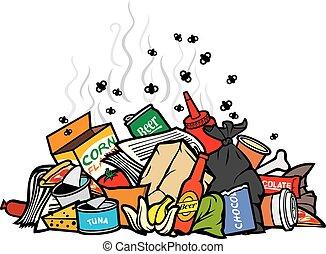 Pila de ilustración vectorial de basura