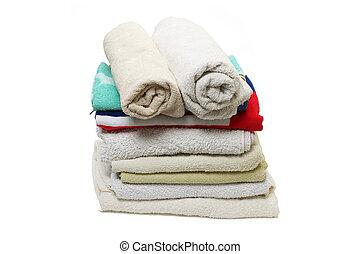pila, toallas