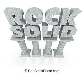pilares, piedra, sólido, seguro, estabilidad, palabras, roca, mármol, columnas