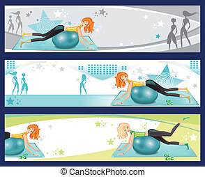 Pilates estandartes de ejercicio.