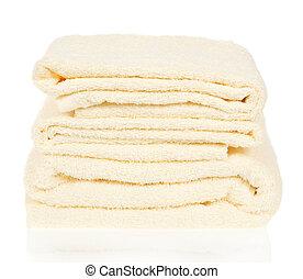 Pile de las toallas de baño