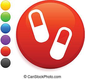 Pills icon en el botón de Internet