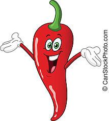 pimienta chili, caricatura
