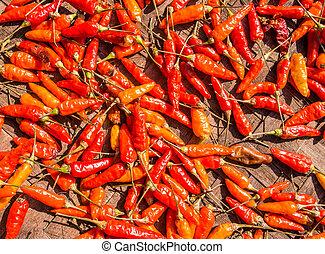 Pimienta picante roja