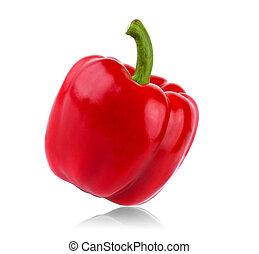 Pimienta roja en fondo blanco