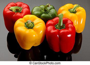 Pimientos coloridos