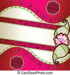 Pink indian mehndi inspiró la bandera