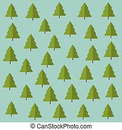 Pinos de árboles, fondo de diseño