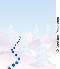 Pinos en la nieve