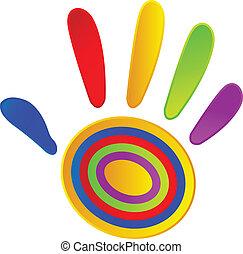 Pintada a mano con colores vivos