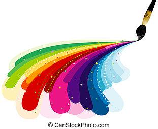 Pintando colores del arco iris