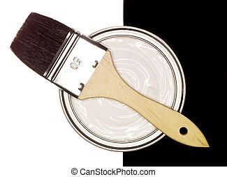 Pintar puede con cepillo