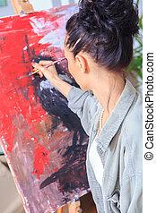 Pintora femenina