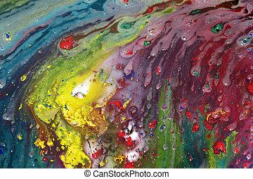 Pintura abstracta húmeda