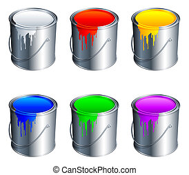 pintura, buckets.