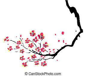 Pintura china de ciruela