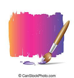 pintura, colorido, cepillo, plano de fondo