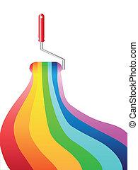 Pintura de aceite arcoíris